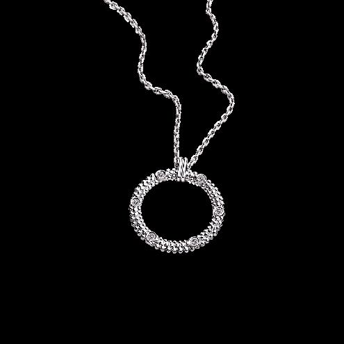 Pendentif Le Premier Jour, or blanc et diamants