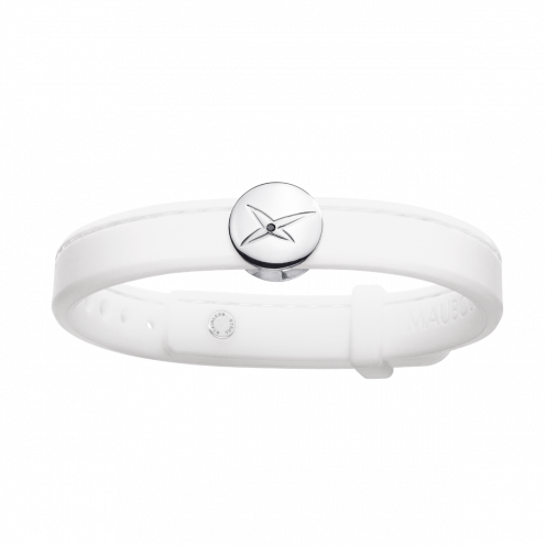 Bracelet Leonard and Suzan of the Valley blanc, argent, homme
