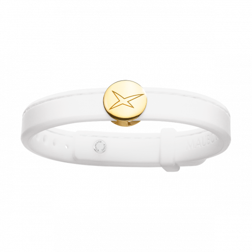 Bracelet Leonard and Suzan of the Valley blanc, or jaune, homme