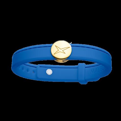 Bracelet Leonard and Suzan of the Valley bleu cobalt, or jaune, homme