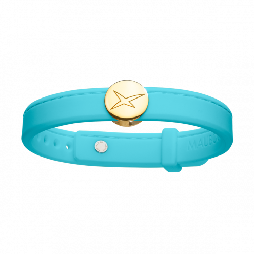 Bracelet Leonard and Suzan of the Valley turquoise, or jaune, homme