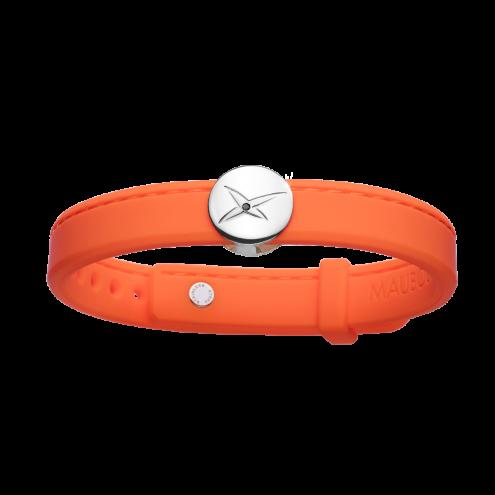 Bracelet Leonard and Suzan of the Valley orange, argent, homme