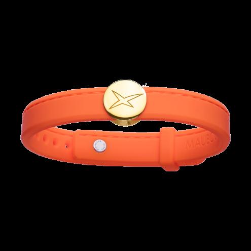 Bracelet Leonard and Suzan of the Valley orange, or jaune, homme