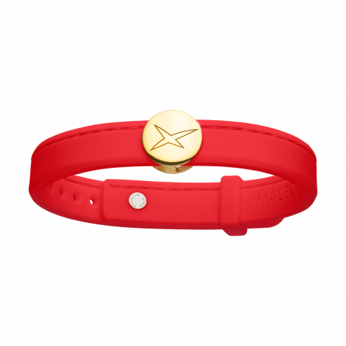 Bracelet Leonard and Suzan of the Valley rouge, or jaune, femme