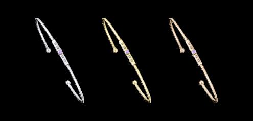 Bracelet Capsule d'Émotions, saphir violet