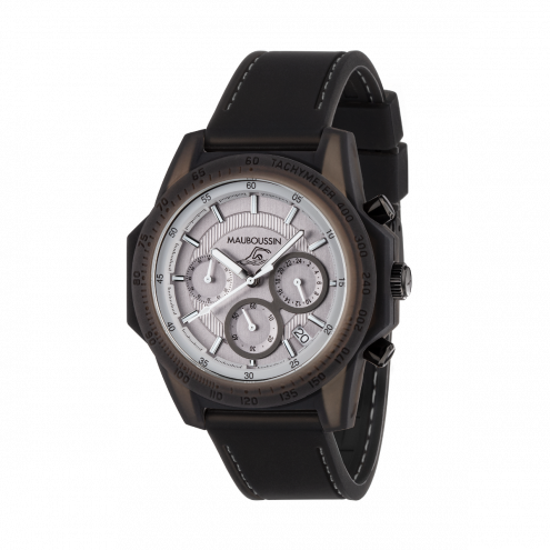 Montre THE SWIMMER silicone grise