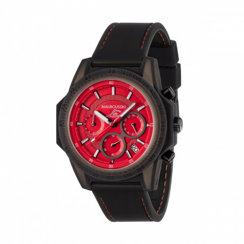 Montre THE SWIMMER silicone rouge