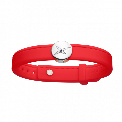 Bracelet Leonard and Suzan of the Valley, rouge, homme