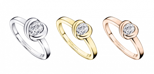 Solitaire Gold Swan