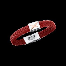 Bracelet Mec j'te Kiff, rouge