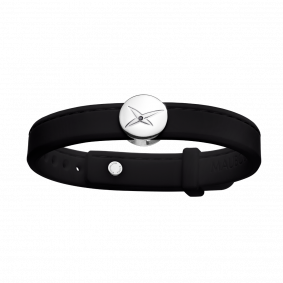 Bracelet Leonard and Suzan of the Valley noir, argent, homme