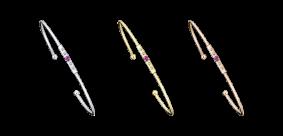 Bracelet Capsule d'Émotions, saphir rose