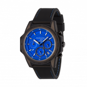 Montre THE SWIMMER silicone bleue